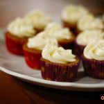 Peruvian chili lime and mango cupcakes