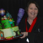 Chef Bren Young with her cake