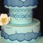 Cake show_blue piping