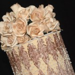 cake show_brown roses