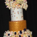 cake show_gold flowers