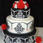 cake show_red, black and white